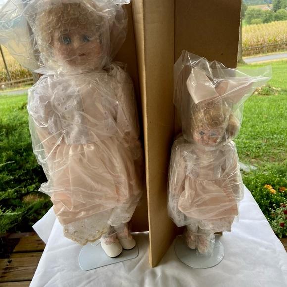 Vintage Unopened Mother/Daughter Bisque Dolls
